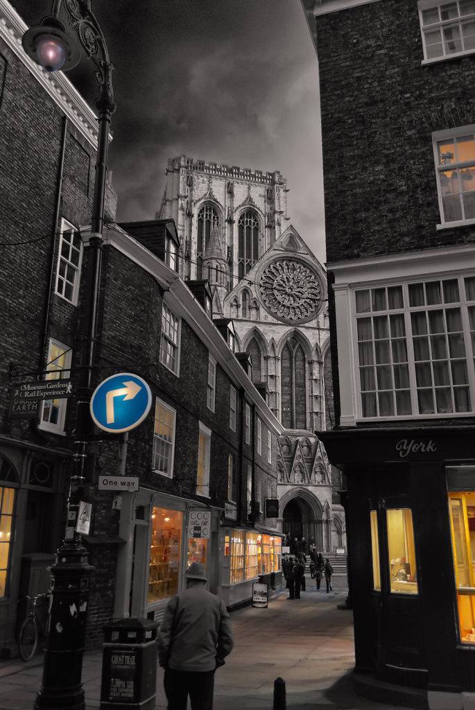 York at dusk