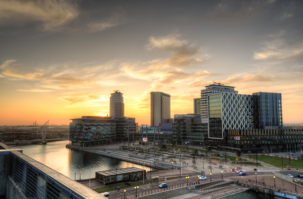 View to Media City, Salford
